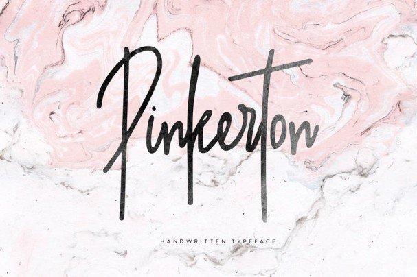 Download Pinkerton + Extra font (typeface)