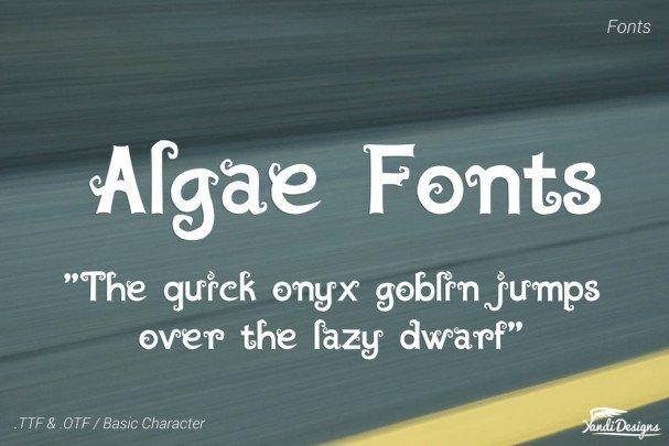 Download Algae Fantasy Fonts font (typeface)