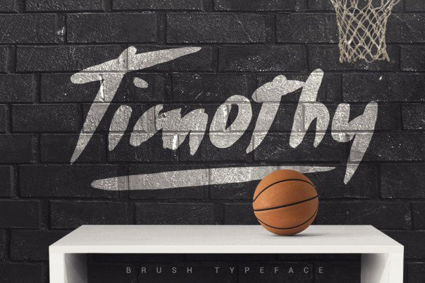 Download Timothy Brush Typeface font (typeface)