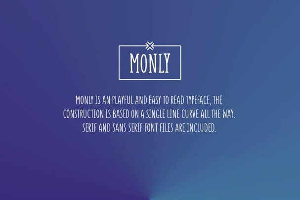 Download Monly font (typeface)