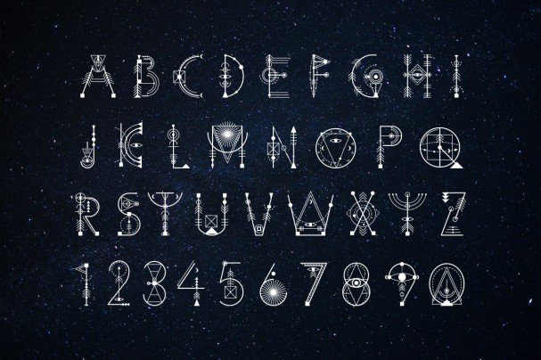 Download Sacred Geometry font (typeface)