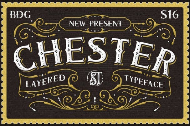 Download Chester - Layered Family font (typeface)