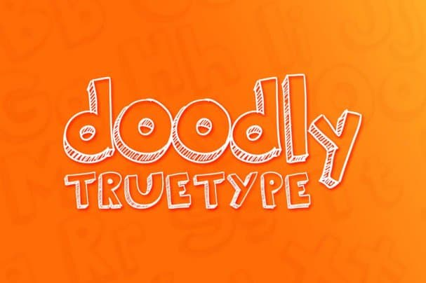 Download Doodly True Type font (typeface)