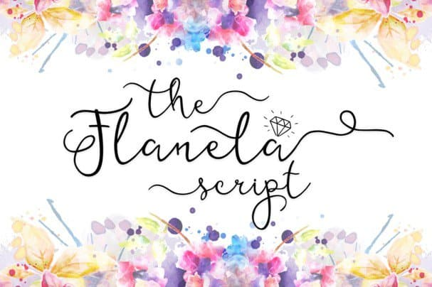 Download The Flanela font (typeface)
