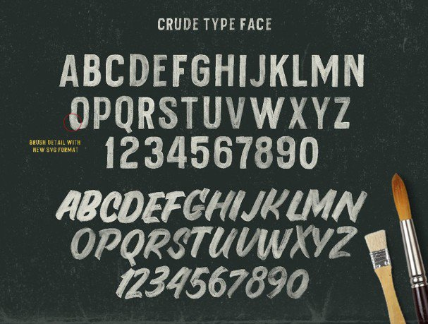 Download Crude Open  Type Svg font (typeface)