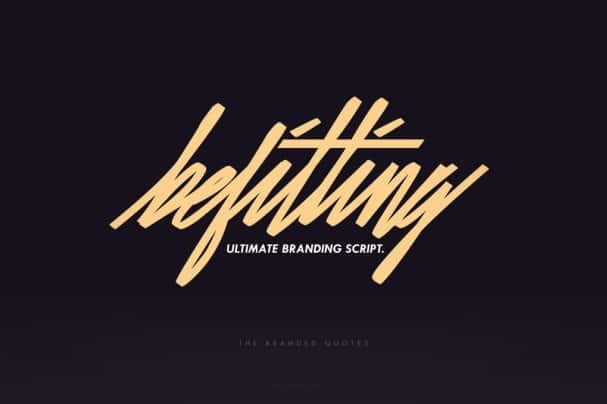 Download Befitting Script font (typeface)