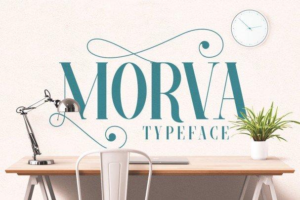 Download MORVA font (typeface)