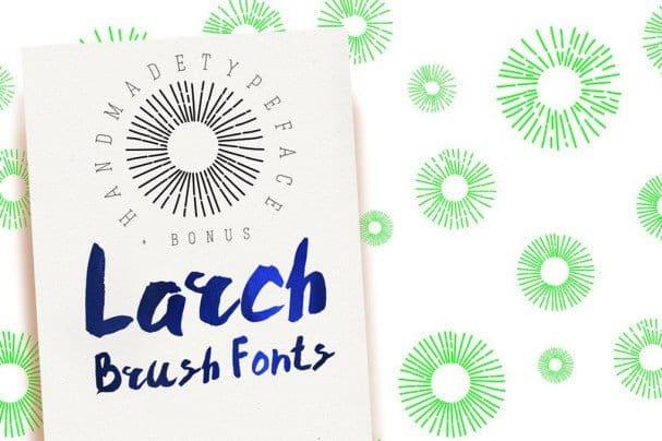 Download Larch Brush Font font (typeface)