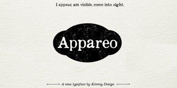 Download Appareo Extra Light font (typeface)
