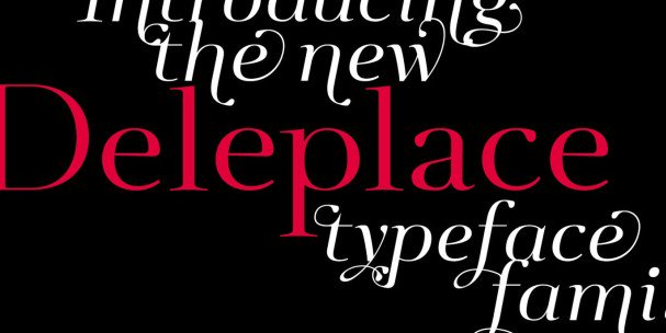 Download Deleplace font (typeface)