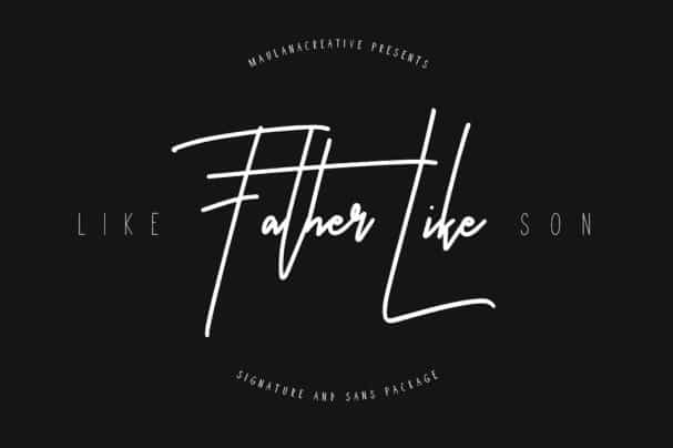 Download Like Father Like Son Typeface font (typeface)