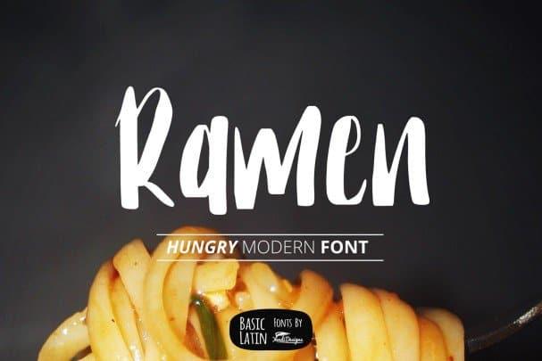 Download Ramen Modern Font font (typeface)