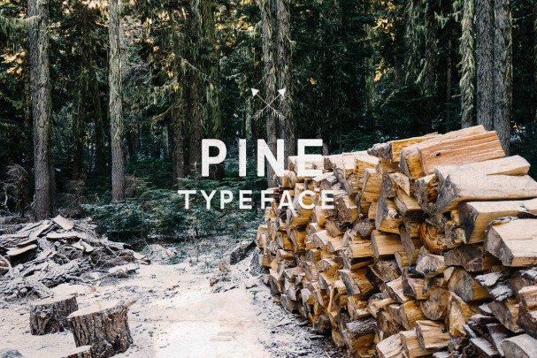 Download Pine Font font (typeface)