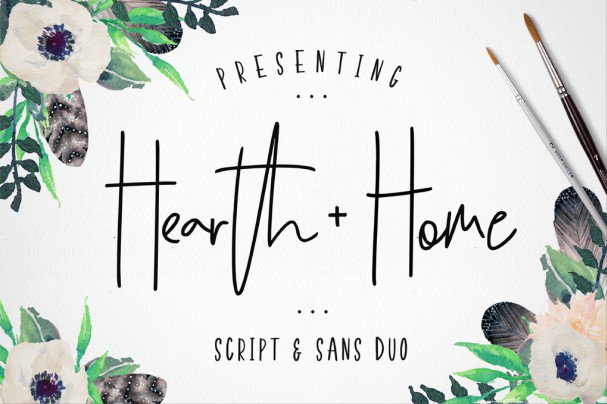 Download Hearth & Home Font Duo font (typeface)