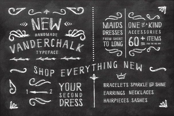 Download Vanderchalk typeface font (typeface)