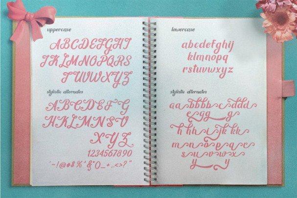 Download Mon Cheri Typeface + Extras font (typeface)