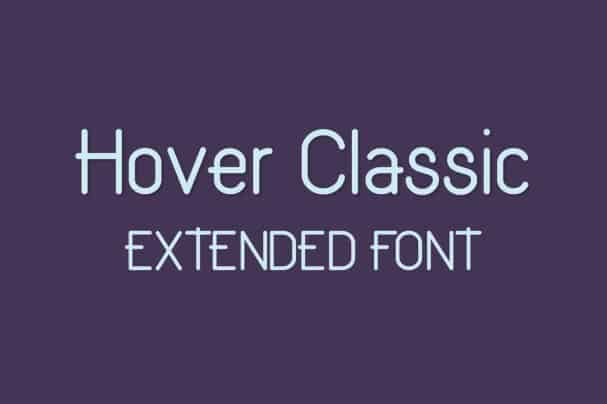 Download Hover Classic Extended Font font (typeface)