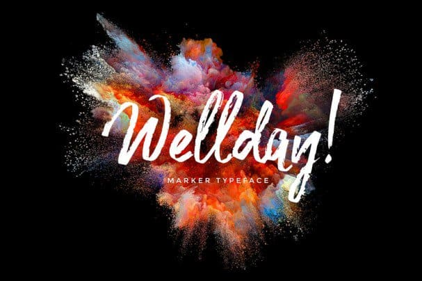Download Wellday Brush Font font (typeface)