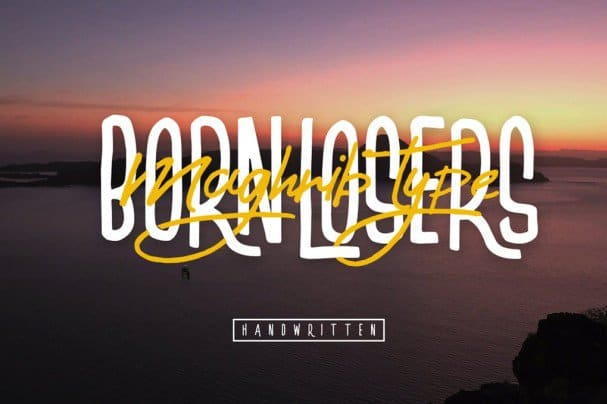Download Born Losers font (typeface)