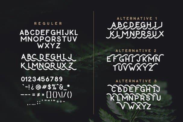 Download Thousand Lake - Handmade Font font (typeface)