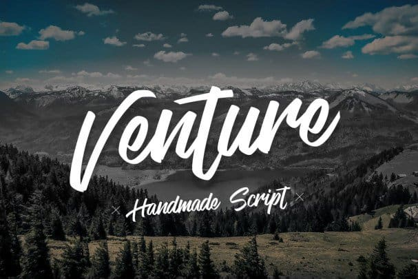 Download Venture - Handmade Script font (typeface)