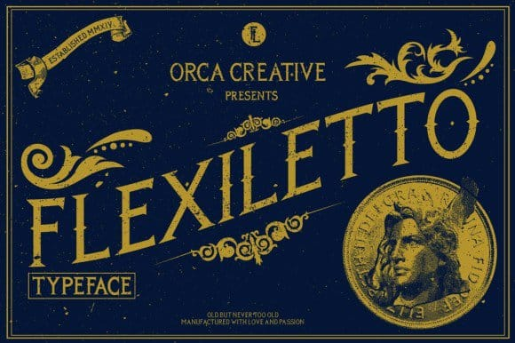 Download Flexiletto font (typeface)