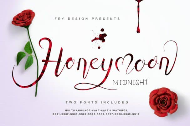 Download Honey Moon Midnight - Two font (typeface)