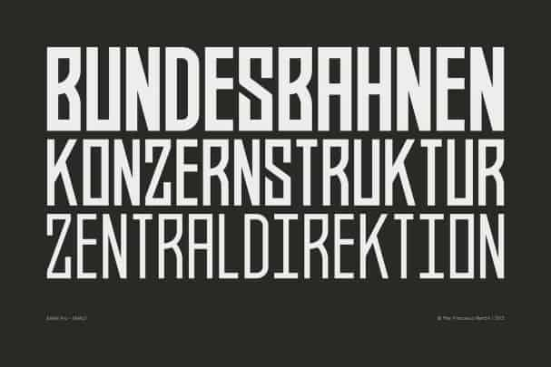 Download BAHN Pro - FAMILY font (typeface)