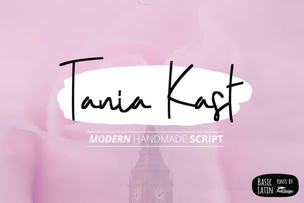 Download Tania Kast Modern Script font (typeface)