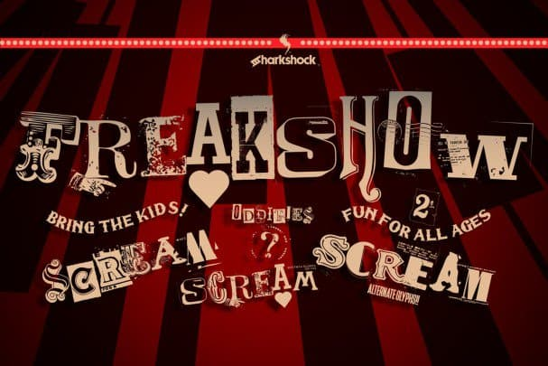 Download Freakshow font (typeface)