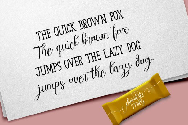 Download Chocolate Milky - Font Duo font (typeface)