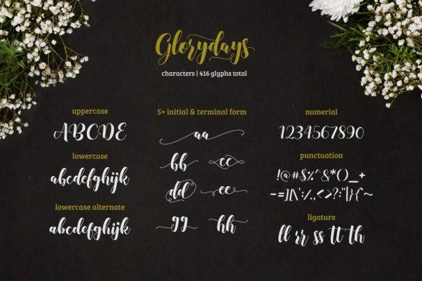 Download Glorydays font (typeface)