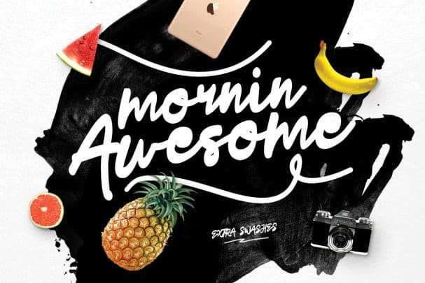 Download Mornin Awesome font (typeface)