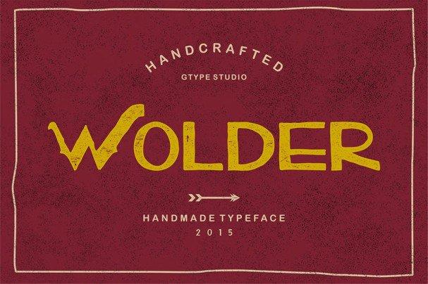 Download Wolder Typeface font (typeface)