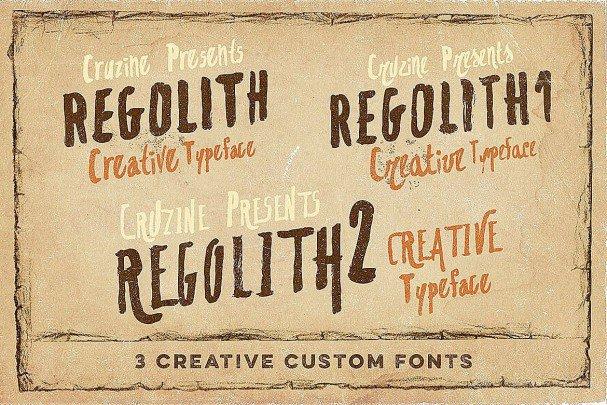 Download Regolith font (typeface)