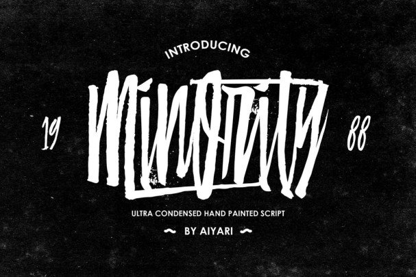 Download Minority font (typeface)