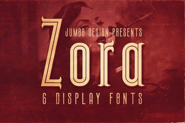 Download Zora - Vintage Display font (typeface)
