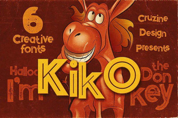 Download Kiko - Funny Display Font font (typeface)