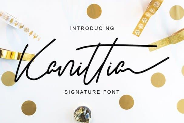 Download Kanittia font (typeface)