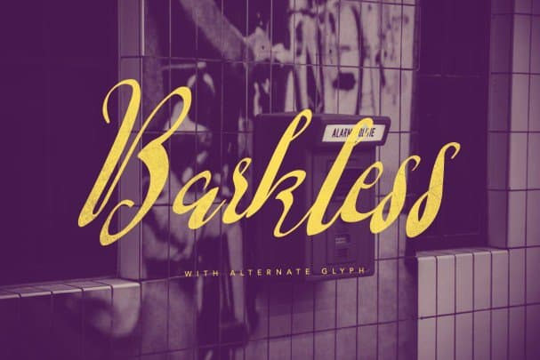 Download Barkless font (typeface)