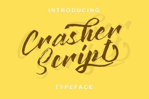 Download Crasher Script font (typeface)