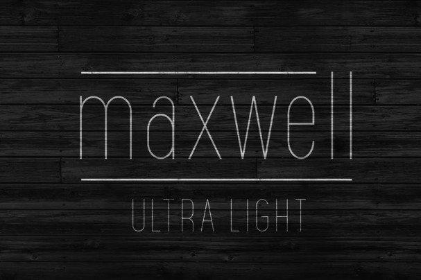 Download Maxwell Sans UltraLight font (typeface)