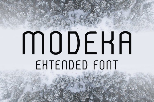 Download Modeka Extended Font font (typeface)