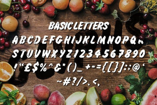 Download Grocery Brush font (typeface)