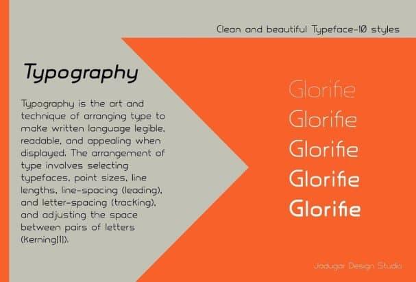 Download Glorifie font (typeface)