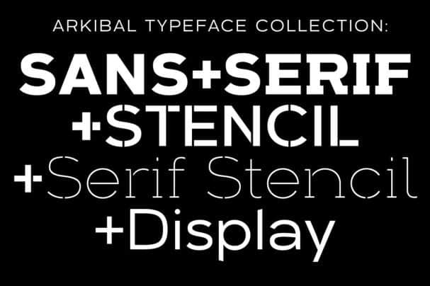 Download Arkibal Typeface Collection font (typeface)