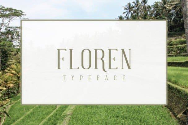 Download FLOREN Typeface font (typeface)