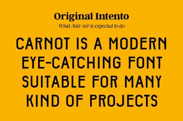 Download Carnot AllCaps font (typeface)