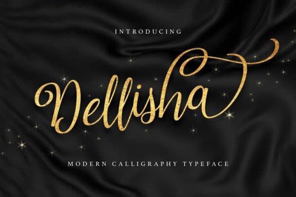 Download Dellisha Script font (typeface)