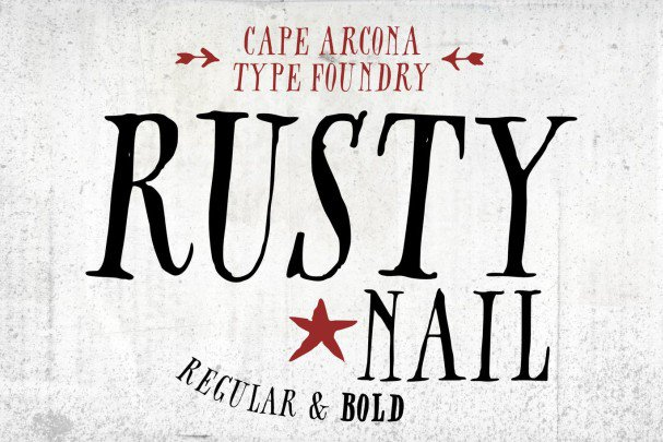Download CA Rusty Nail font (typeface)